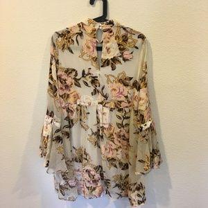 The Impeccable Pig Dresses - Impeccable Pig floral wonder long sleeve dress